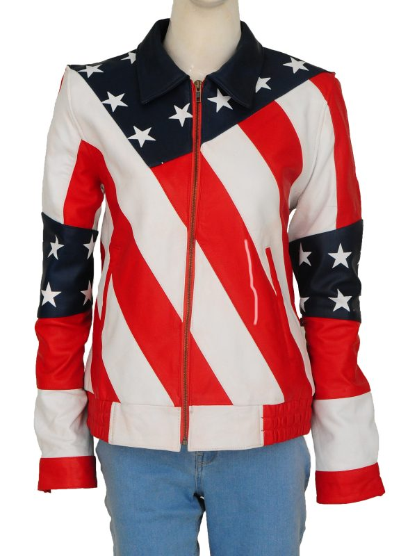 union jack women jacket, union jack biker girl jacket,