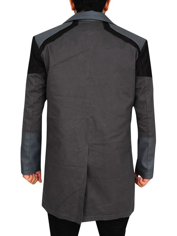trendy grey game jacket, game become human jacket,