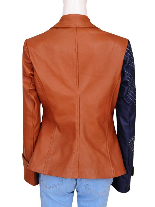 julia benz leather jacket, mayor amanda rosewater,
