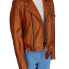 trending brown jacket, women leather jacket,