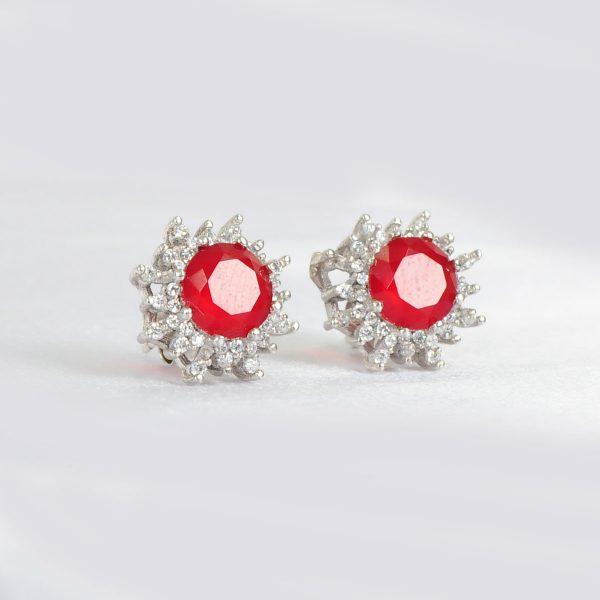 bright red women earrings, red women earrings,