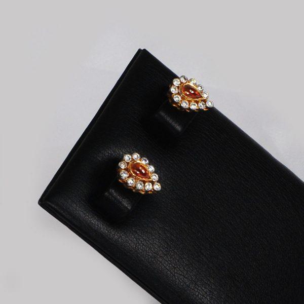 trending women orange earrings, trending women orange tops,