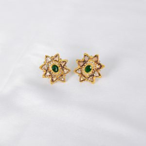 women green gem earring, green gem women earring,