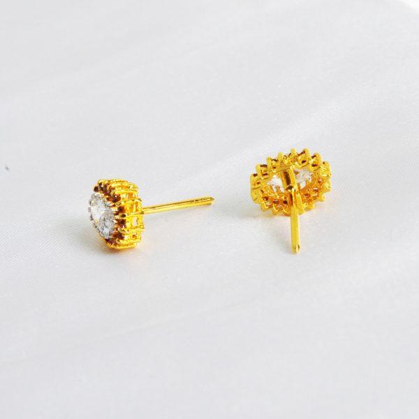 gold pelated women earrings, gold plated women tops,