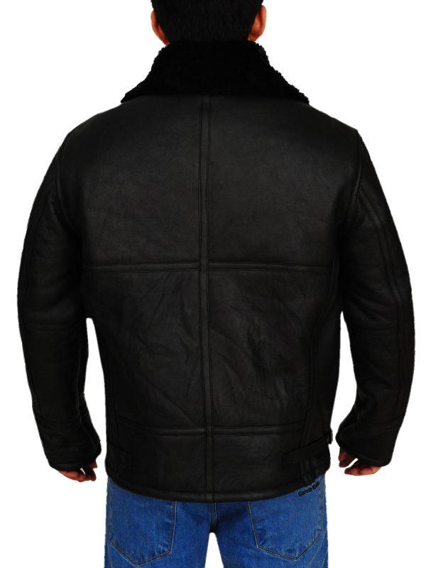 avaitor bomber jacket for men, men shearling bomber jacket,
