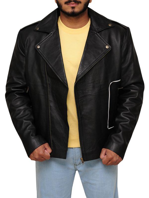 john travolta jacket, biker jacket
