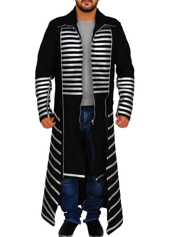 black coat, long coat