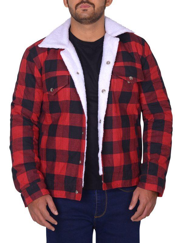 riverdale red cotton jacket, riverdale men jacket,