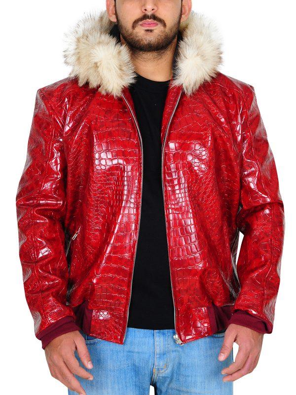 cool animal skin leather jacket, animal skin men jacket,