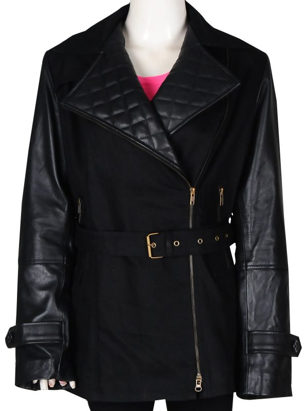 black women leather jacket, black jacket for women,