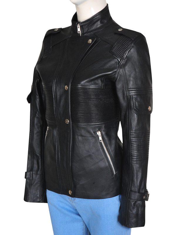 trending women fashion jacket, winter style leather jacket,
