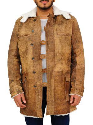 dark knight rises brown jacket, dark knight rises distressed leather jacket,
