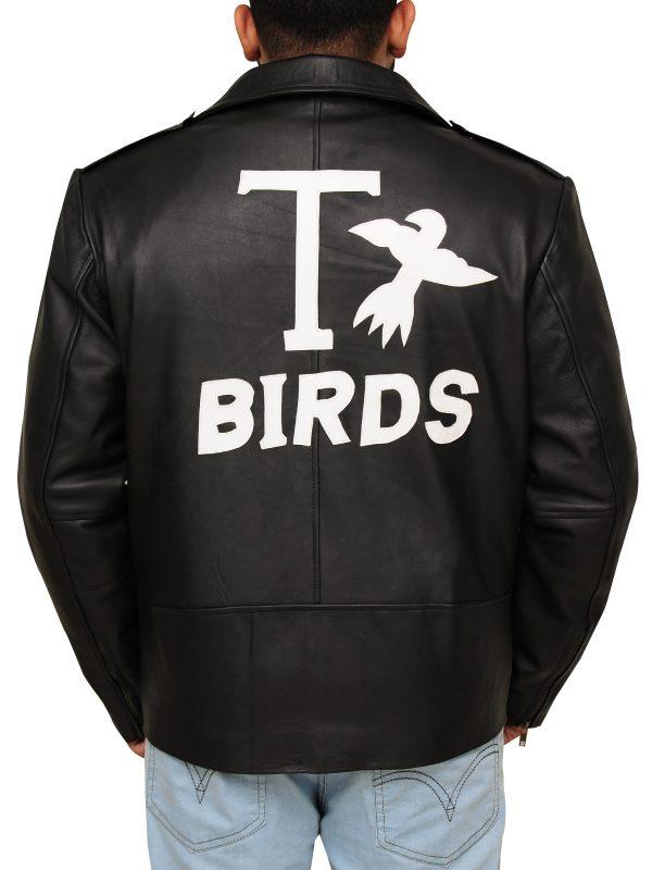 t bird jacket, black leather jacket