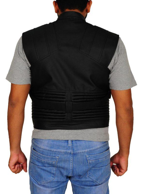 avengers hawkeye leather vest, avengers brown leather vest,