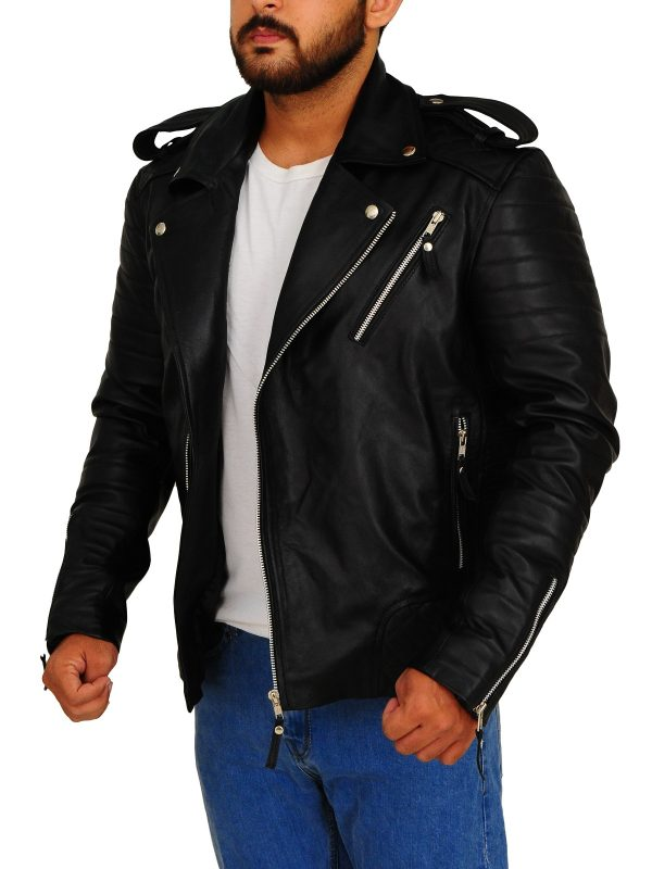 motorcycle men jacket, biker leather jacket,