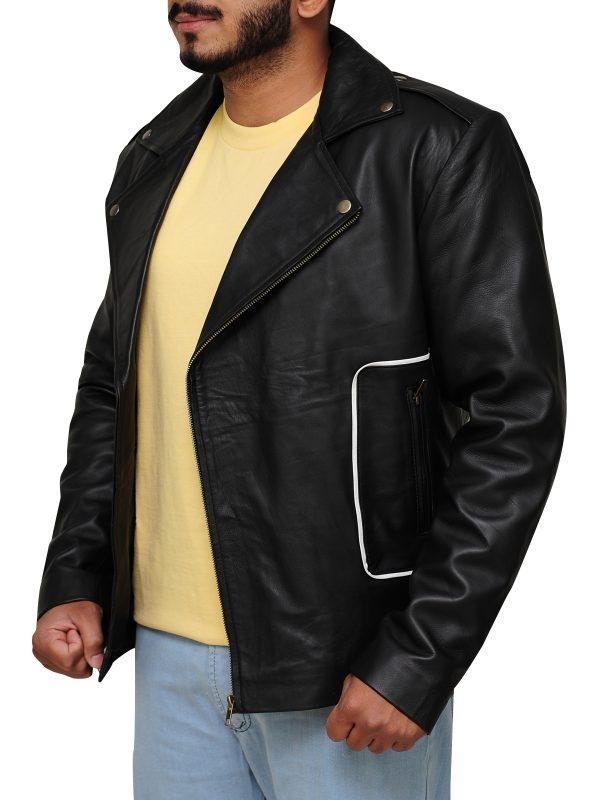 grease 1978 movie jacket, black Brando jacket