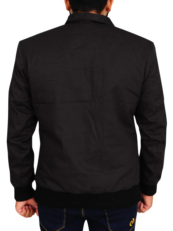 black shirt jacket, black cotton jacket,