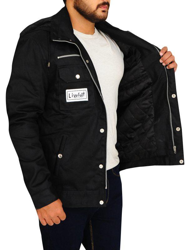 wwe goldberg black jacket, wwe raw wrestler jacket,