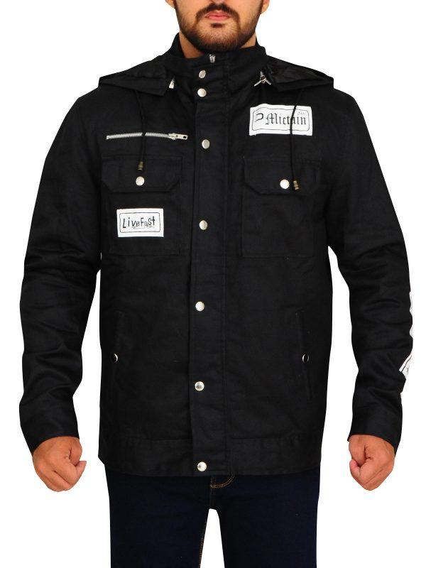 wrestler jacket leather jacket, raw wwe black cotton jacket,