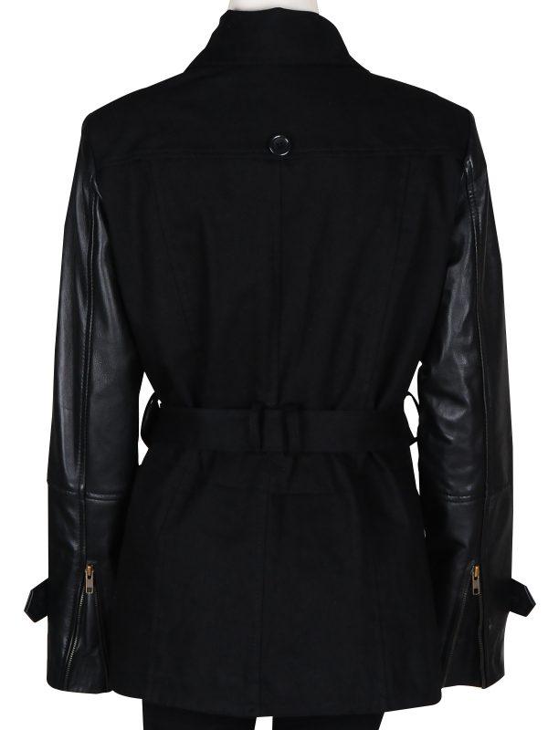 sasha alexander black jacket, sasha alexander leather jacket,
