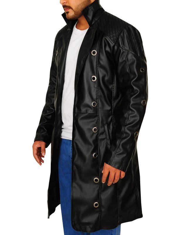trending trench coat, men leather trench coat,
