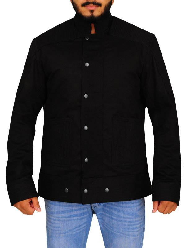 casual black men jacket, men black jacket,