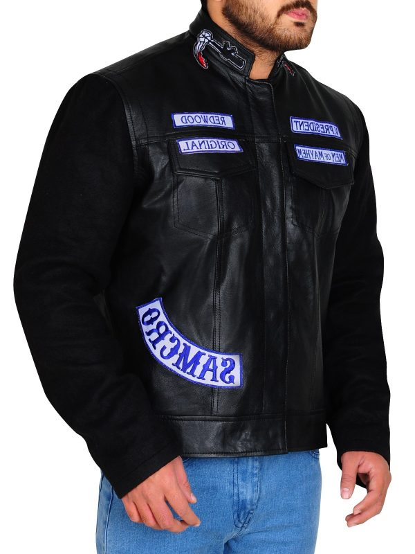 biker leather jacket, men biker jacket,
