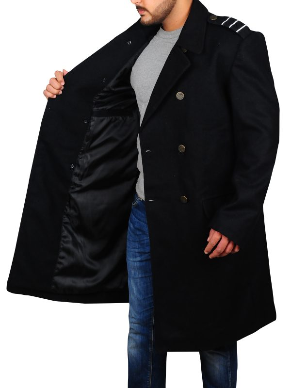 captain jack harkness black coat, captain jack harkness long coat,