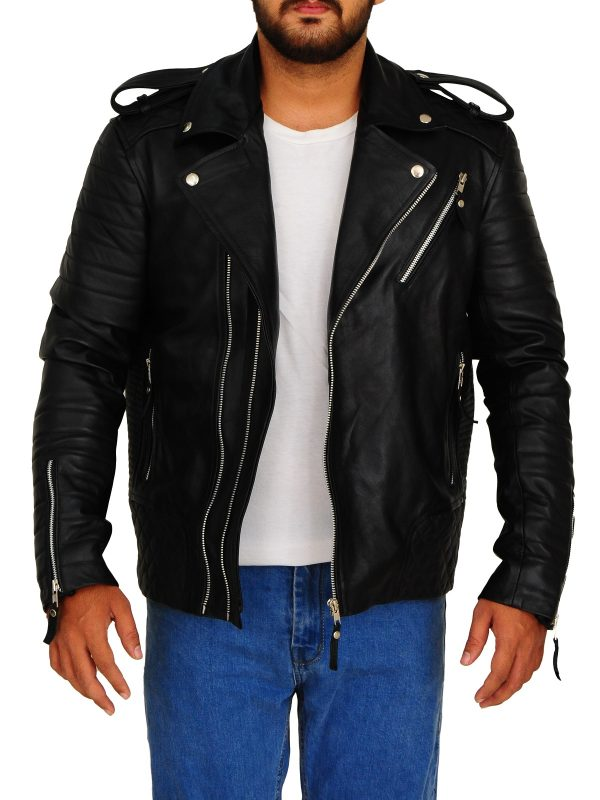 motorbike leather jacket, brando leather jacket,