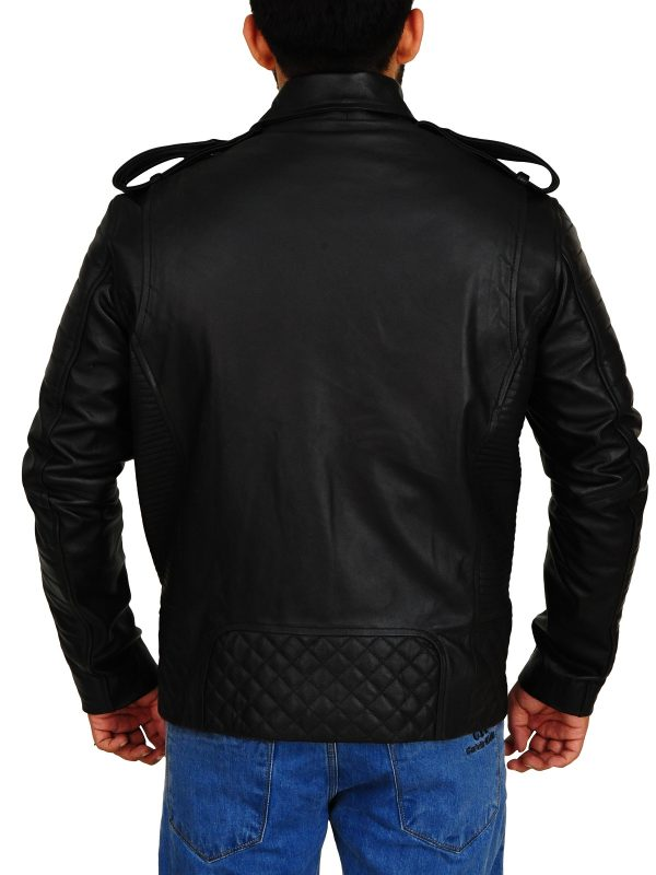 men moto jacket, trending black leather jacket,