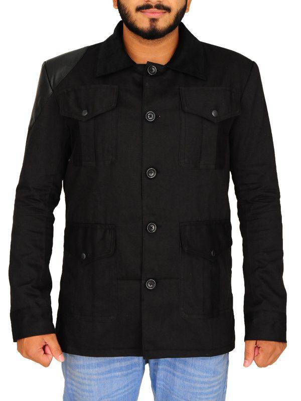 doctor john watson jacket, tv series actor black jacket,