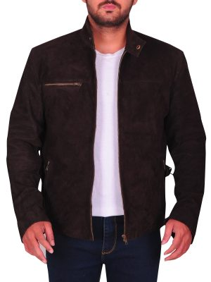 men suede leather jacket, brown suede leather jacket men,