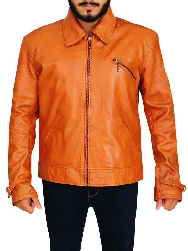 light brown leather jacket, trending brown men leather jacket,