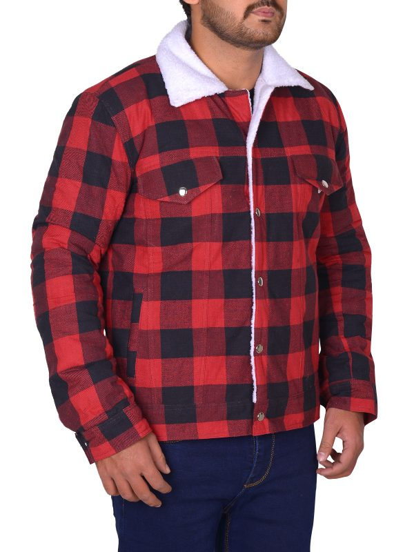 red cotton jacket, riverdale red jacket,