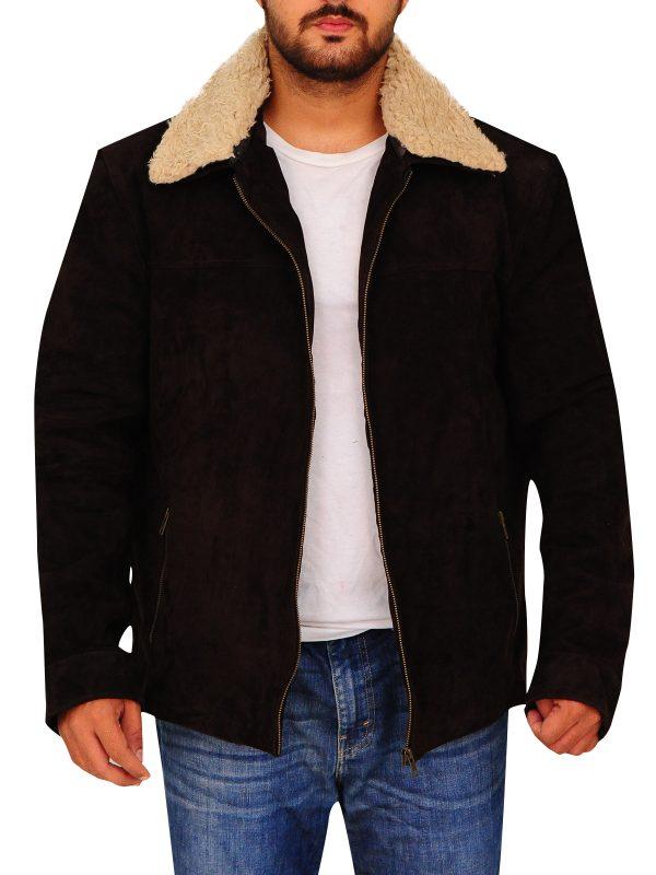 men brown suede jacket, suede leather brown jacket for men,