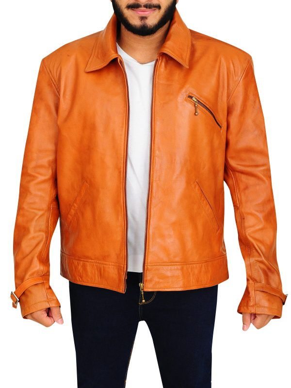 Dennis Quaid leather jacket, Dennis Quaid brown jacket,