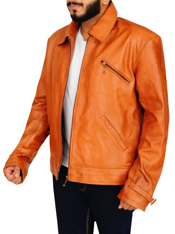 tv series vegas leather jacket, tv series vegas brown jacket,