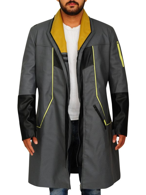game detroit become human coat, game become human leather coat,