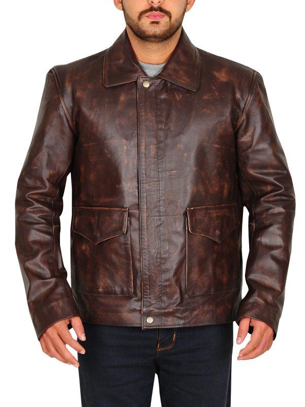 the last crusade distrssed brown jacket, brown men jacket,