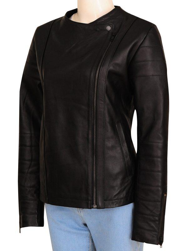 women black biker leather jacket, women biker leather jacket,