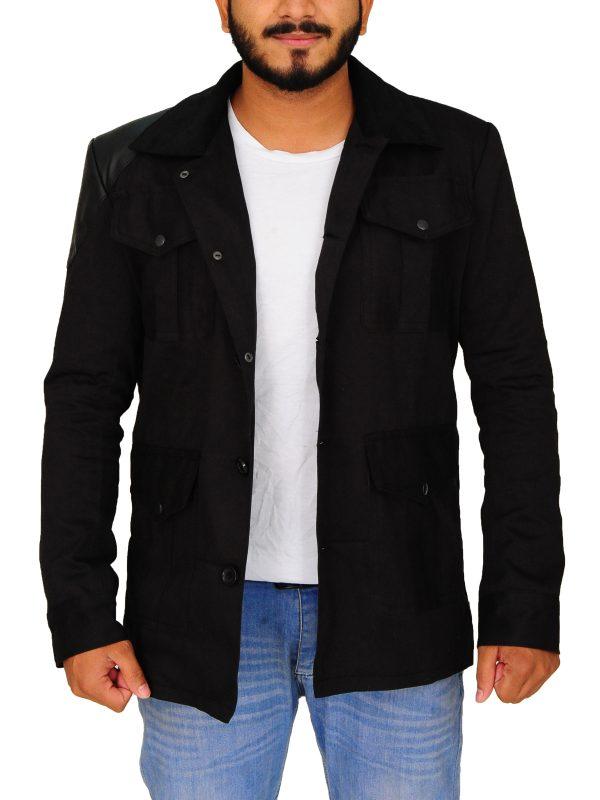 john watson black jacket, doctor watson sherlock holmens jacket,