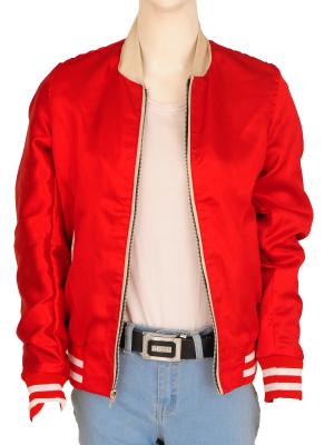 red satin jacket, hollywood celebrity jacket,
