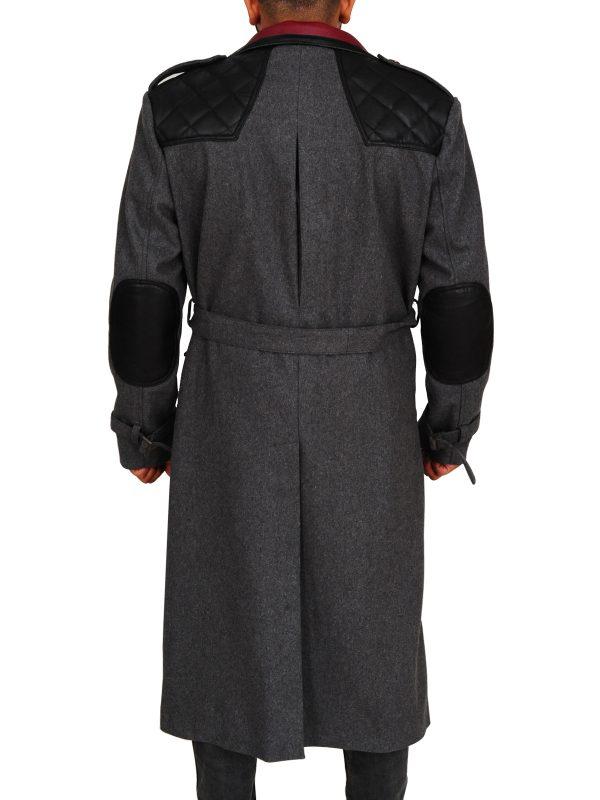 charcoal coat, trending long coat