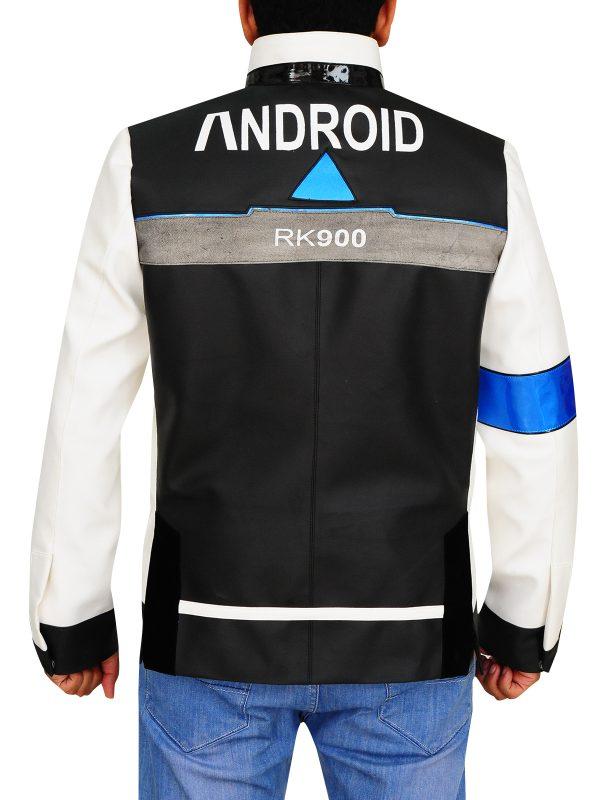 white jacket game detriot become human, men game leather jacket,