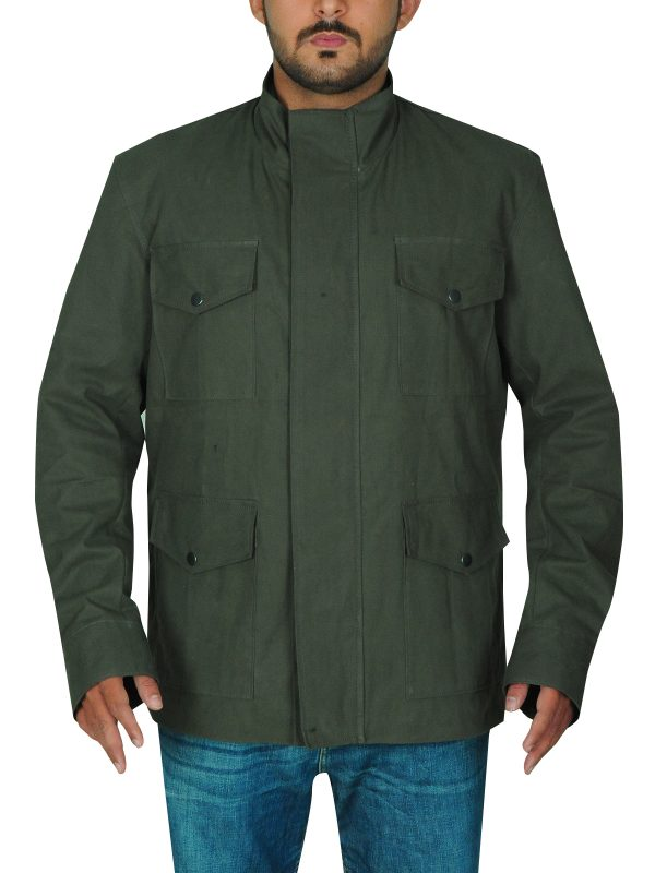 trendy green cotton jacket, cotton jacket for men,