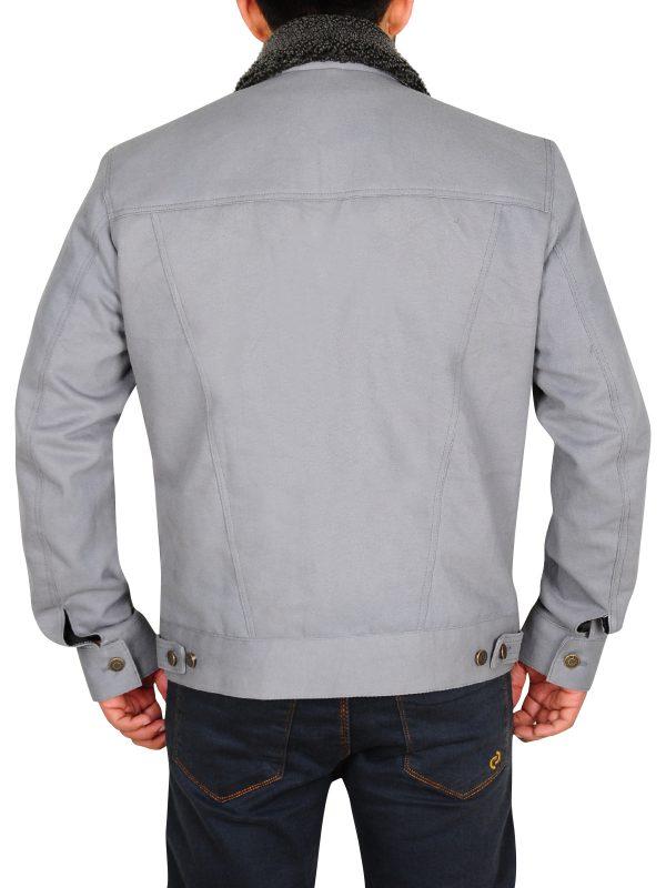 grey denim jacket for men, men grey denim jacket,