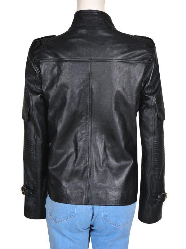 girl black leather jacket, leather jacket for girls,