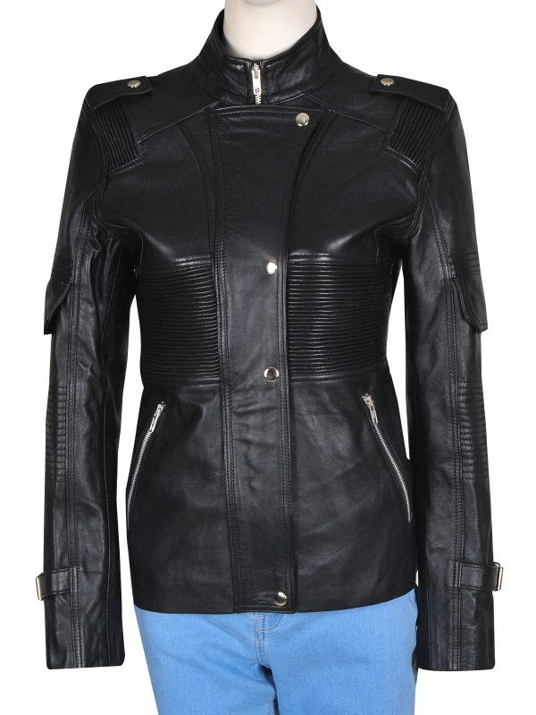 black leather jacket for women, women black leather jacket,