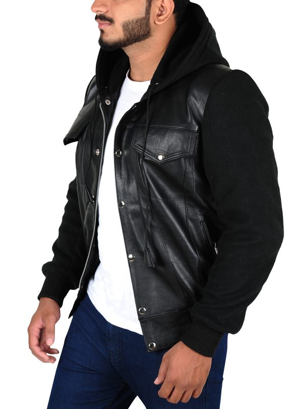 trending black men jacket, winter trends leather jacket for men,