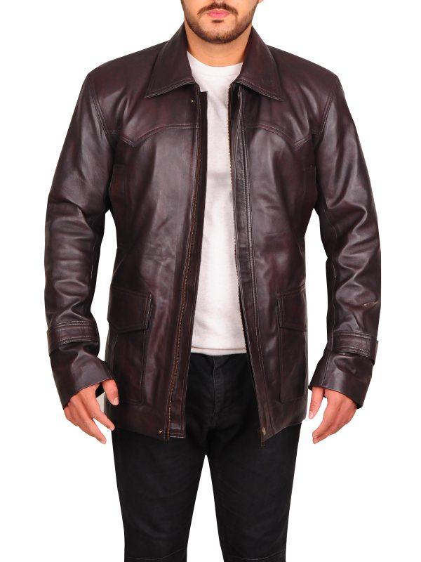 james bond brown leather jacket, men brown leather jacket,